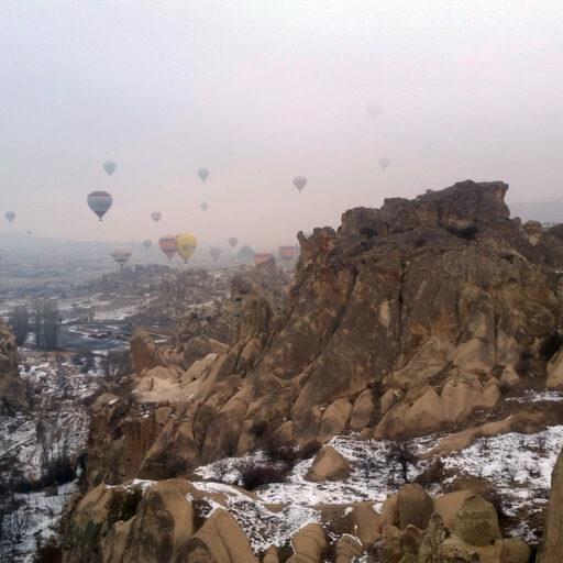 На воздушном шаре над Каппадокией