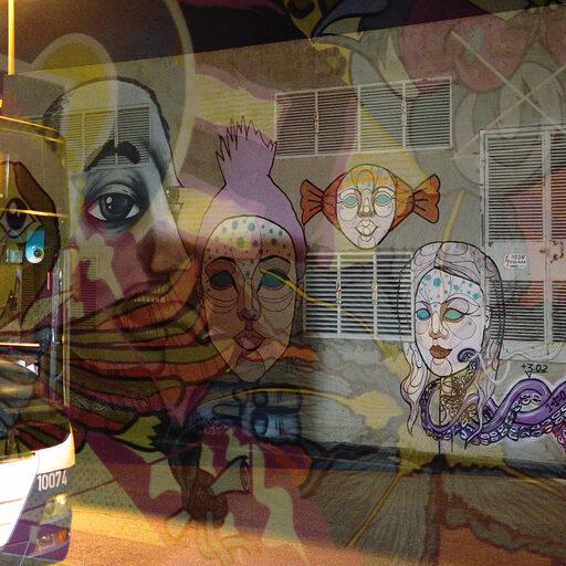 Граффити на автовокзале.