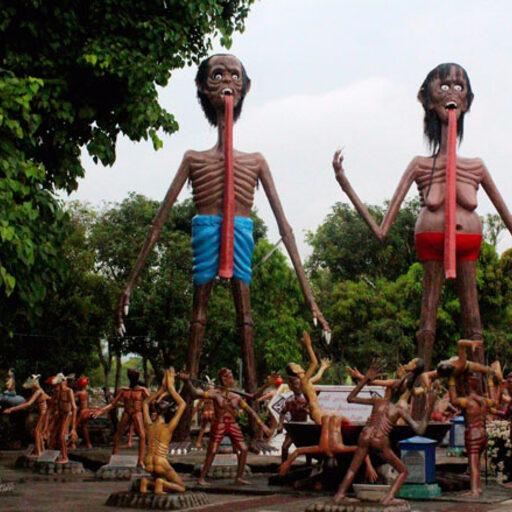 Буддийский ад — Ван Саен Сук (Wat Saen Suk) в Таиланде — слабонервным не смотреть!!!