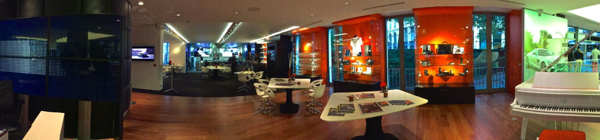 Мишленовский ресторанWY вшоуруме Mercedes House Brussels