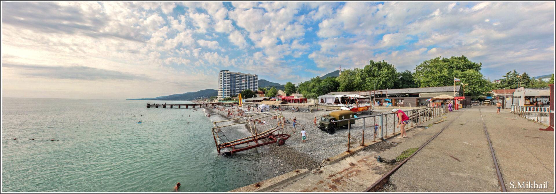 Веб-камеры Лазаревского онлайн: набережная, море, пляж 41