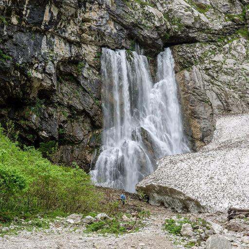 Гегский водопад, озеро Рица, Молочный водопад, Голубое озеро.