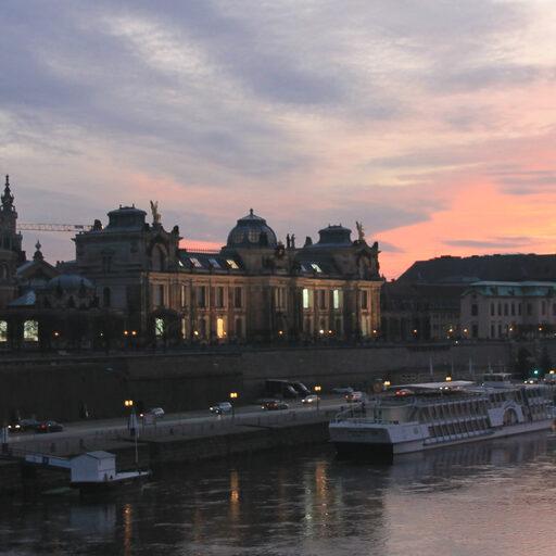 Вечерняя прогулка. Дрезден.