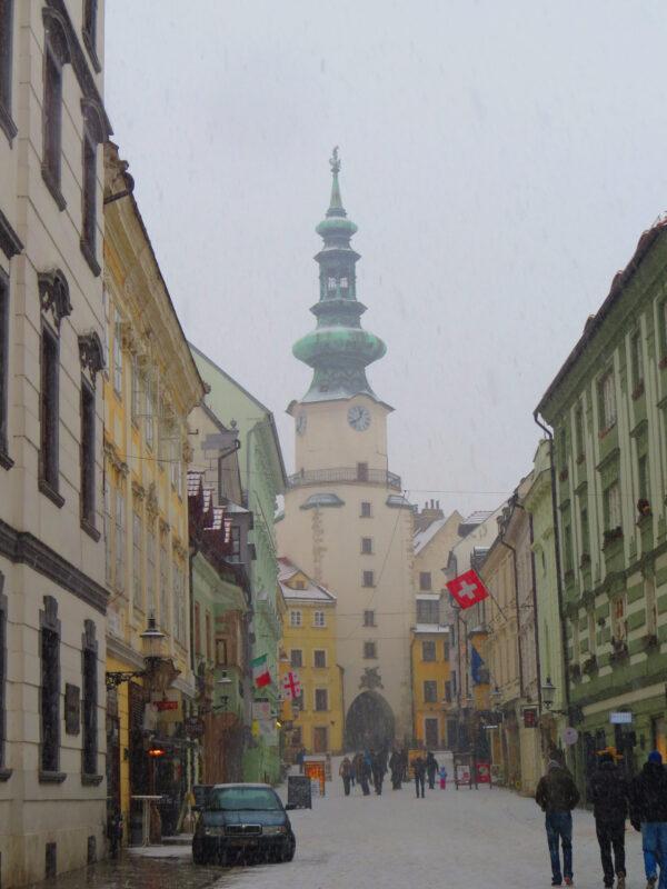 Заснеженная Братислава