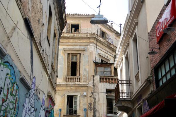 Греческое граффити.